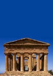 Il tempio della Concordia. Agrigento, Sicilië